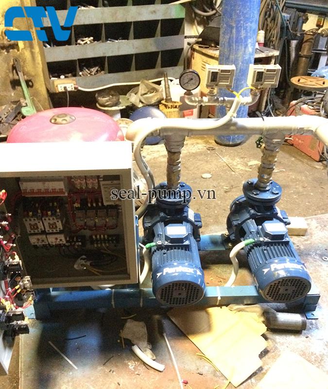 Lắp đặt tủ điện điều khiển máy bơm, hệ thống máy bơm tăng áp