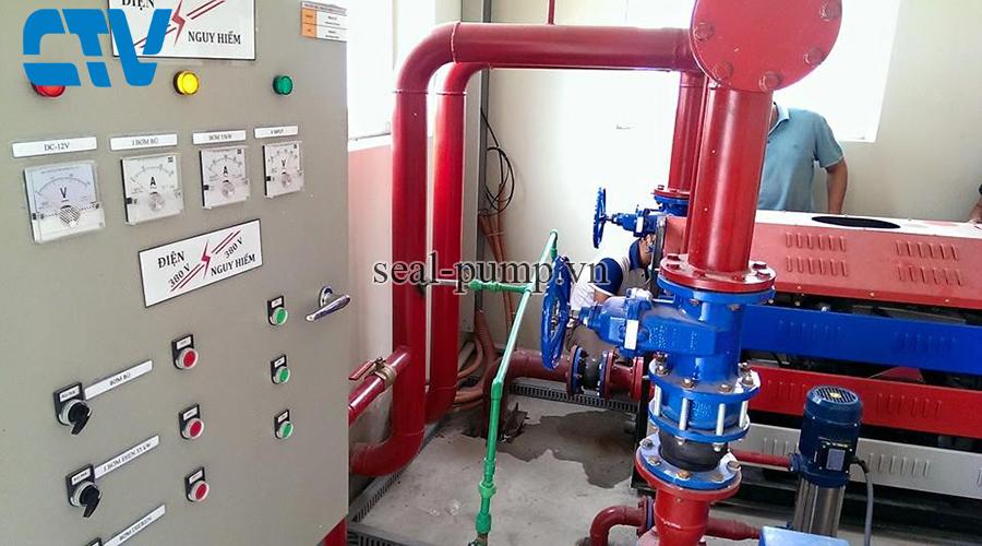Tủ điện điều khiển máy bơm phòng cháy chữa cháy tại Cường Thịnh Vương