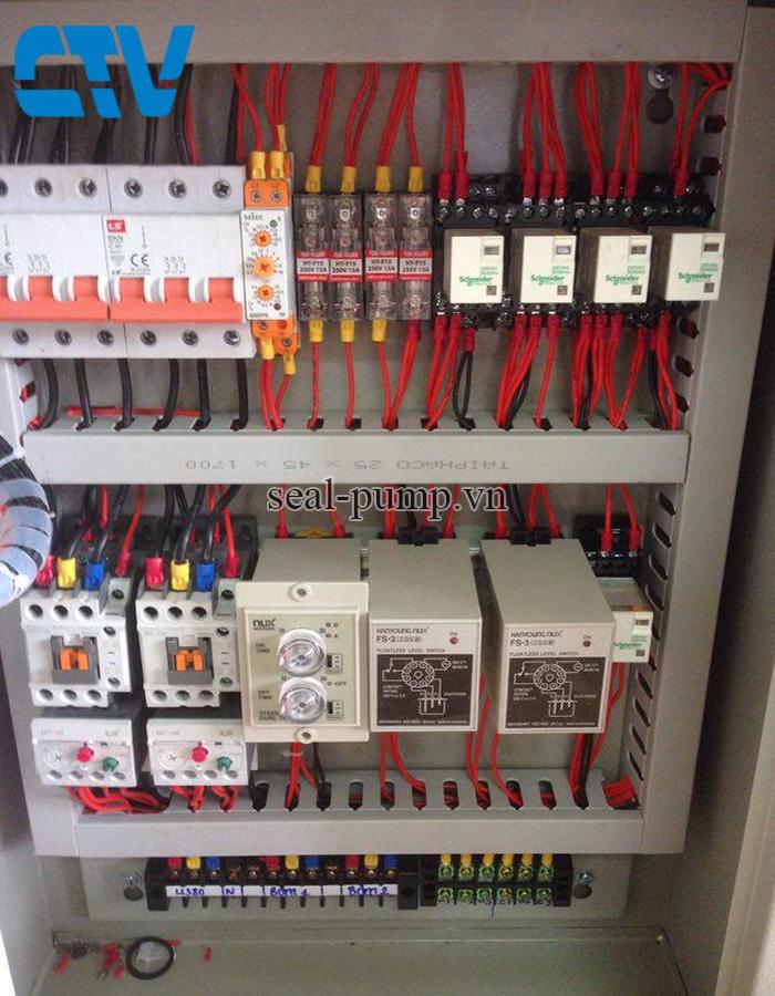 Tủ điện điều khiển hệ thống máy bơm xử lý nước thải